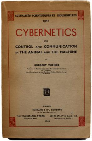 the first edition of Norbert Wiener's cybernetics, published in Paris by Hermann